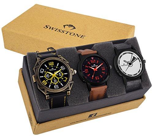 Swisstone Combo Wrist Watches for Men   CMB 48B 126B 510B
