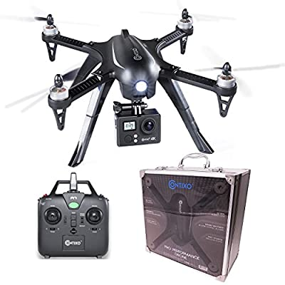 Contixo F17 Plus RC Quadcopter Racing Drone 2.4Ghz 6-Axis Gyro 4 Channels, 4k Ultra HD camera included, Brushless Motors, 18 min Flight Time, 2100Mah Battery. Hardcase Inc. (F17 Plus) from Contixo