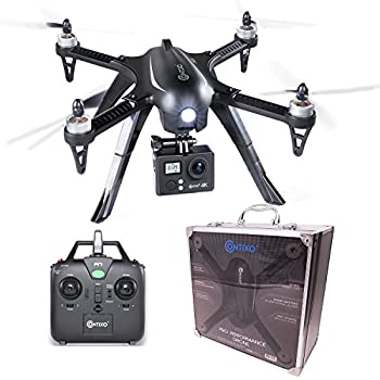 Contixo F17+ RC Quadcopter Fast Drone 4K Ultra HD Video Camera 16MP 1806 1800kv Brushless Motors High Capacity Battery 18min Fly Time 1000ft Range GoPro Hero Action Camera Compatible Mount