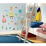 RoomMates RMK1380SCS SpongeBob Squarepants Peel and Stick Wall Decals, Baby & Kids Zone
