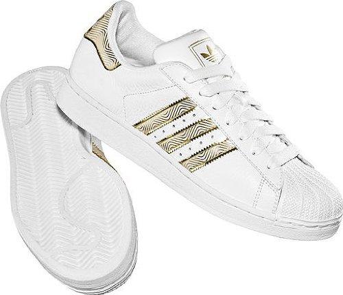 5549b71af9b8 Adidas Superstar II 663731 weiß gold Größe 46  Amazon.de  Schuhe    Handtaschen
