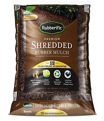 Rubberific 0.8-cu ft Dark Brown Shredded Rubber Mulch (Playground Certified)