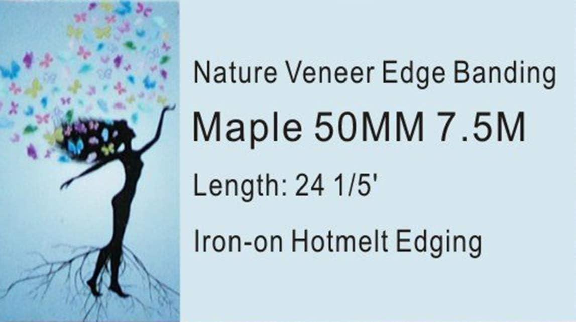 Cherry//Maple Easy Application Wood Edging Sheet Beech, 30 Hotmelt Adhesive Edge Banding Pre Glued Iron On Wood Veneer Edging Tape Made in USA