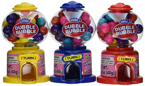 Dubble Bubble Mini Dispenser 12 Pack-1.41 OZ. (40g) Green Gumball Machine