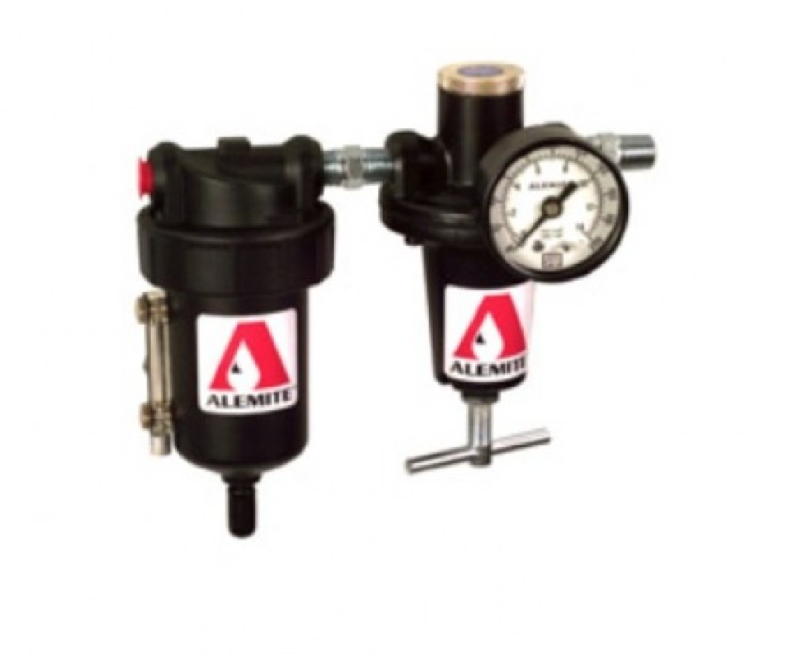 Alemite Standard-Duty Filter and Regulator Package with 1/4 in. NPTF Female Inlet/Outlet - 338860 by Alemite (Image #1)