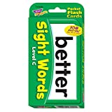 Trend Enterprises Sight Words Level C Pocket Flash Cards