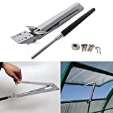 ZKer Carbon Steel Automatic Window Opener, Automatic Greenhouse Roof Window Vent Opener Lifter Solar Heat Sensitive Greenhouse Vent Opener Sets Standard- Lifts 15 Lbs