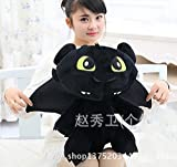1pcs 60cm Big Plush Toothless How to Train Your Dragon Toy Doll Giant Large Stuffed Animals Soft Doll Birthday Gift