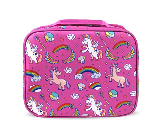 Keeli Kid's Lunch Box Pink Unicorn with Pink Sandwich Cutter in Unicorn Pink by Keeli Kids (Image #5)