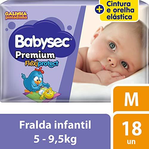 Fralda Babysec Galinha Pintadinha Premium M 18 Unids, Babysec, M