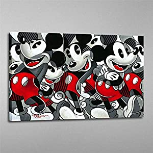 Zjhart HD Printed Oil Paintings Home Wall Decor Art on Canvas Mickey 1size#028 (Framed,16x24inch)