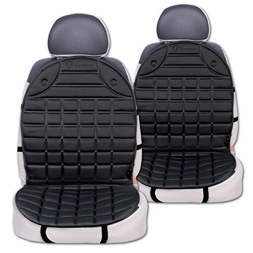 12v Car Seat Heater Thickening Heated Pad Cushion Winter: Zone Tech 2x Thickening Heated Car Seat Chair Heater Cover