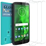 [3-PACK] Moto G6 Screen Protector, TAURI [Tempered Glass] Screen Protector For Motorola Moto G6 with Lifetime Replacement Warranty