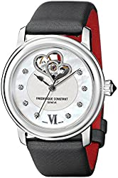 Frederique Constant Women's FC-310WHF2P6 Double-Heart Stainless Steel Watch with Diamond Accents