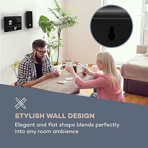 auna Stereosonic Microsystem • Stereo System • Micro System • 2 x 10 Watts RMS Stereo Speakers • Front-Loading CD Player • FM Tuner • Bluetooth • USB Port • Incl. Remote Control • Black