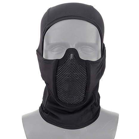 Amazon.com : Aoutacc Balaclava Airsoft Mesh Mask, Ninja ...
