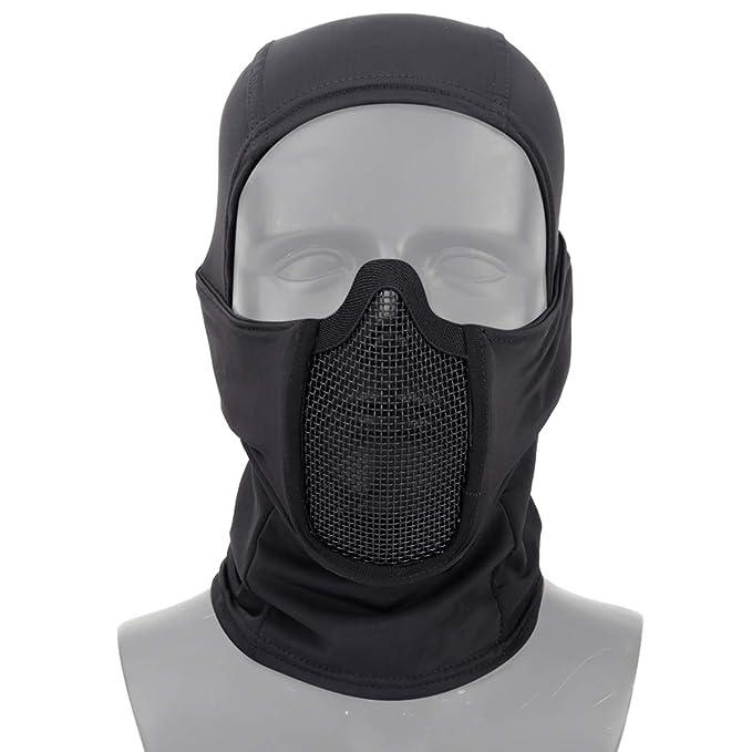 Aoutacc Pasamontañas, máscara de Malla para Airsoft, Estilo ...