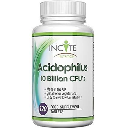 Los probióticos de alta potencia de 10 mil millones de CFUS, 120 Tabletas (4