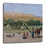 3dRose dpp_126698_1 Indian Encampment by Henry Farny American West Wall Clock, 10 by 10-Inch Review
