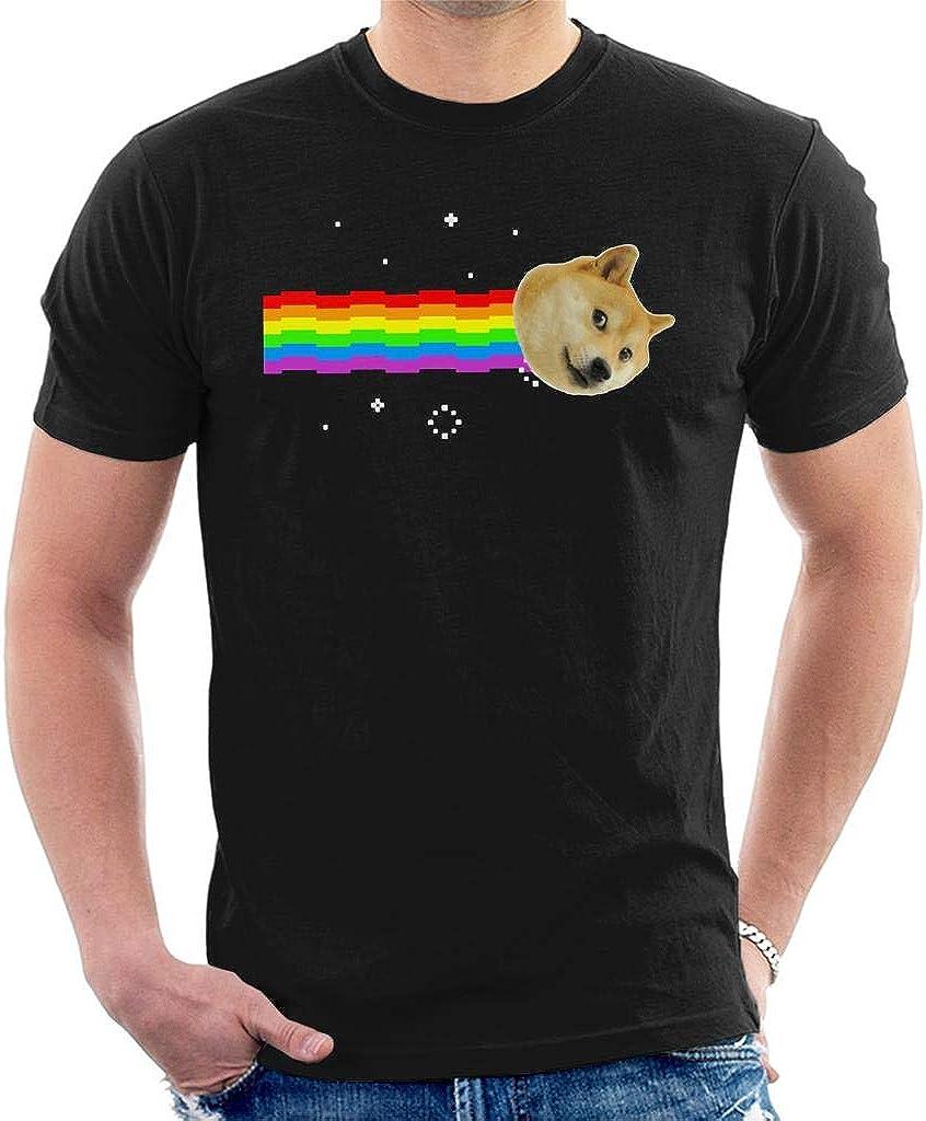 Cloud City 7 Doge Nyan Cat Meme Mens T-Shirt: Amazon.es: Ropa y accesorios