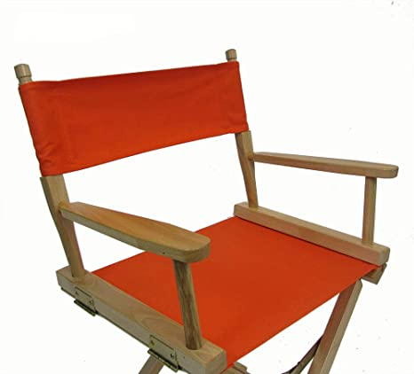 Awe Inspiring Replacement Cover Canvas For Directors Chair Round Stick Orange Machost Co Dining Chair Design Ideas Machostcouk