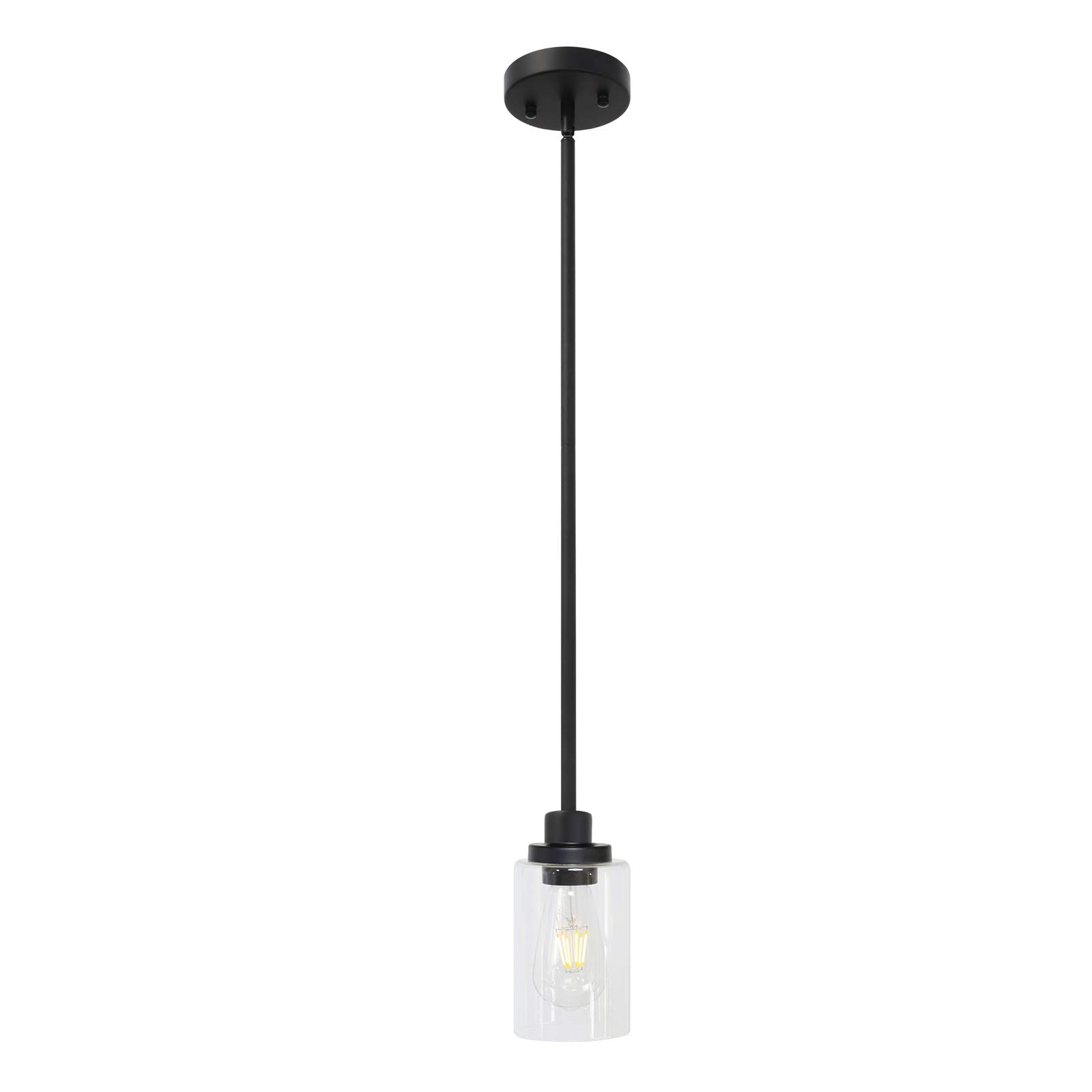 Todoluz Modern 1 Light Black Kitchen Island Light With Clear Glass Shade Single Pendant Light For Living Room Decoration Buy Online In Dominica At Dominica Desertcart Com Productid 203688973