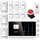 KERUI TFT Color Display GSM PSTN Home Security Alarm System Auto Dial System and IOS APP Wireless Wired GSM Alarm System Telephone Touch keypad Display Been Used in Homes, Factories, Schools, Shops