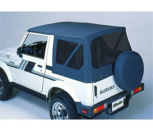 Bestop 51361-01 Black Crush Replace-A-Top Soft Top Clear Windows; No Door Skins Included for 1988-1994 Suzuki Samurai