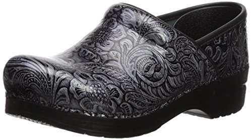 Dansko Women's Professional Mule,Grey Tooled Patent,37 EU/6.5-7 M US