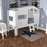 lounge zone raumwunder marken hochbett holz massiv kinderbett spielbett kinderzimmer einzelbett. Black Bedroom Furniture Sets. Home Design Ideas