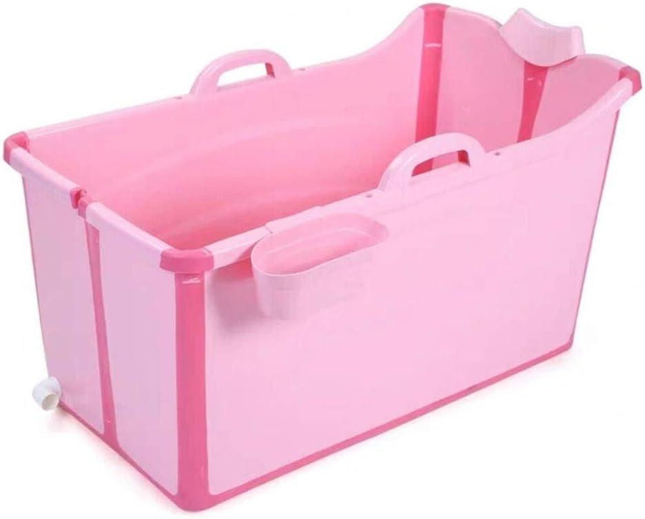 GLokpp Bañera, Ducha portátil, bañera for bebés, bañera Profunda, bañera Plegable, bañera Plegable for niños Grandes, Sentado en la bañera, Piscina Engrosada (Color : B)