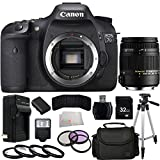 Canon EOS 7D 18 MP CMOS Digital SLR Camera (Body Only) + Sigma 18-250mm f3.5-6.3 DC MACRO OS HSM + 32GB Bundle 16PC Accessory Kit. Includes 3 Piece Filter Kit (UV-CPL-FLD) + 4 Piece Macro Fiter Set (+1,+2,+4,+10) + 32GB Memory Card + High Speed Memory Card Reader + Extended Life Replacement Battery (LP-E6) + AC/DC Rapid Home & Travel Charger + Full Size Tripod + Carrying Case + Memory Card Wallet + Standard Slave Flash + Microfiber Cleaning Cloth