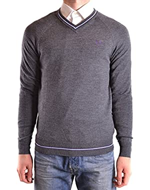 Men's MCBI128182O Grey Wool Sweater