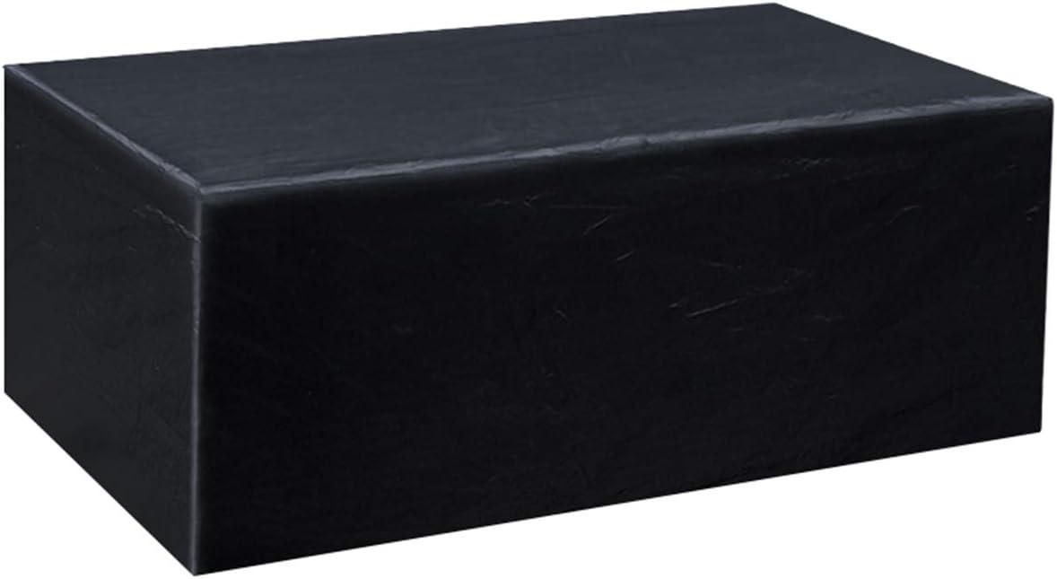 Gurkkst Funda Protectora para Muebles de jardín Funda Muebles Exterior Impermeable Anti-UV Protección Cubierta de Muebles de Mesas Oxford Negro (200x 160x 70cm)