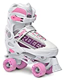 Roces 550047 Women's Model Quaddy 1.0 Roller Skate, US 2.5-4.5, White/Pink