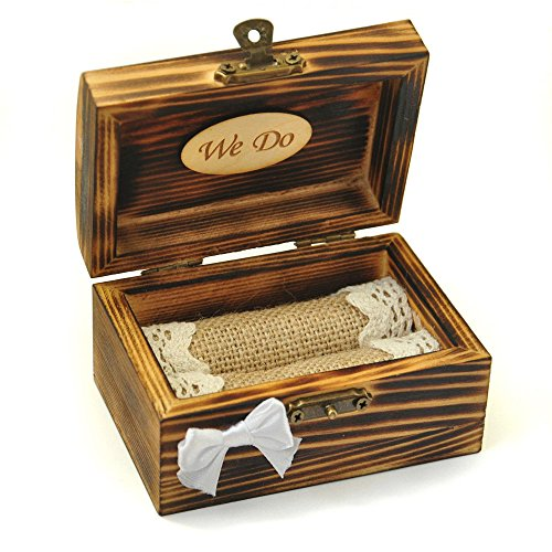 Wedding Ring Box, Ring Bearer Box, Wooden Bearer Box, Rustic Ring Bearer, Wooden Jewelry Box for Rings by LOVEhandmade