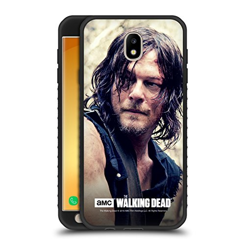 Official AMC The Walking Dead Half Body Daryl Dixon Black Armour Lite Case for Samsung Galaxy J7 2017 / Pro
