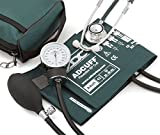 ADC Pro's Combo II DH Adult Dual Head Pocket Aneroid/Scope Kit with Prosphyg 768 Blood Pressure Sphygmomanometer and Proscope 670 Stethoscope, Teal