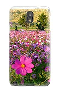 Hot Tpu Cover Case For Galaxy/ Note 3 Case Cover Skin - Flower