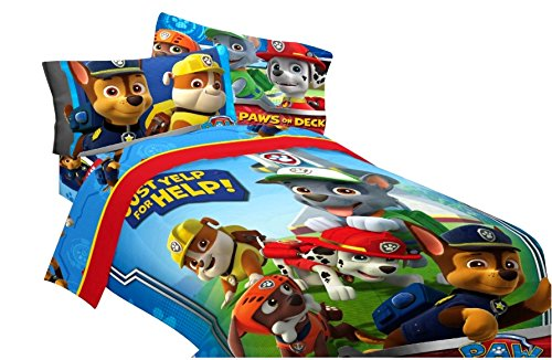 1 X Paw Patrol Twin Comforter and Sheet Set