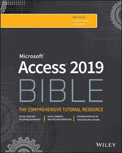 Access 2019 Bible Front Cover