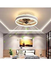 Ø40CM Plafondventilator met verlichting en Afstandsbediening, LED 24W Dimmen Modern Plafondlicht, Dempen Ventilatorverlichting voor Woonkamer Slaapkamer Kantoor, 6 snelheden wind