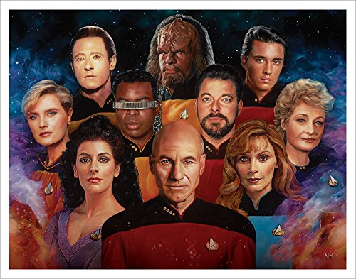 Star Trek The Next Generation Cast Group (Nicky Barkla The Final Frontier) Sci-Fi TV Television Show Postcard Print 11x14