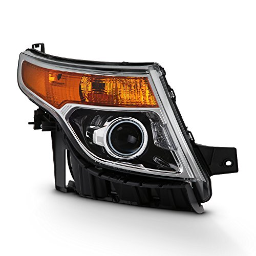 - For 2011-15 Ford Explorer Passenger Side Only Projector Headlight Assembly Chrome Housing Clear Lens