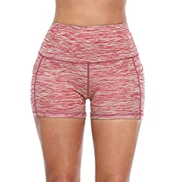 Cadmus High Waisted Fitness Shorts for Women with Side Pockets
