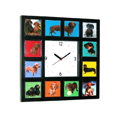Dachshund Weiner Dog Clock with 11 s puppy adult