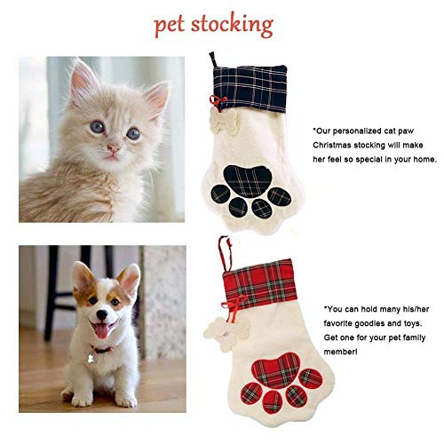 Mrwan Christmas Stocking for Pet Dog Cat Personalized Christmas Stocking for Puppy