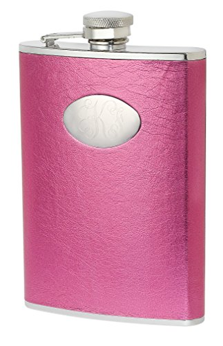 Personalized Visol Hot Pink 8 oz Flask with Free Engraving