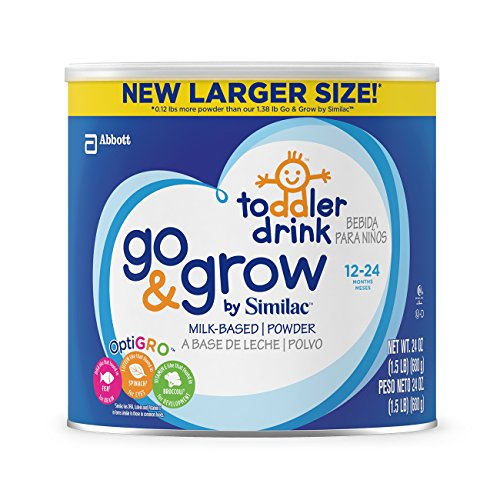 Go & Grow By Similac Milk Based Toddler Drink, Large Size Powder, 24 ounces (Pack of 6)