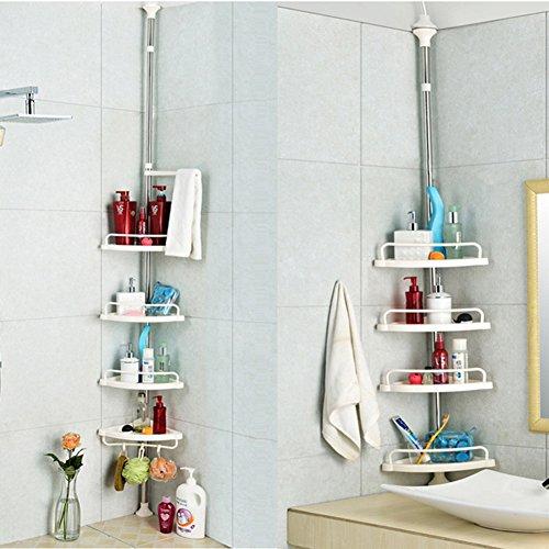 cheap punch-free bathroom rack/Toilet Triple corner/ Ground storage rack/Toilet bathroom storage-A